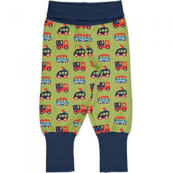 Maxomorra Colourful Cars Rib Pants