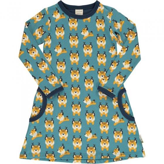 Maxomorra Lively Lynx LS Dress