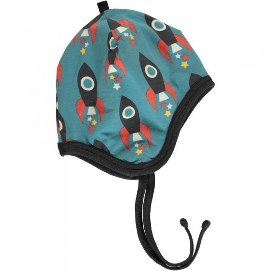 Maxomorra Moon Rocket Velour Helmet Hat