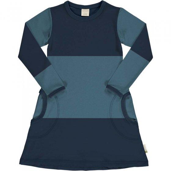 Maxomorra Navy & Sky Block LS Dress