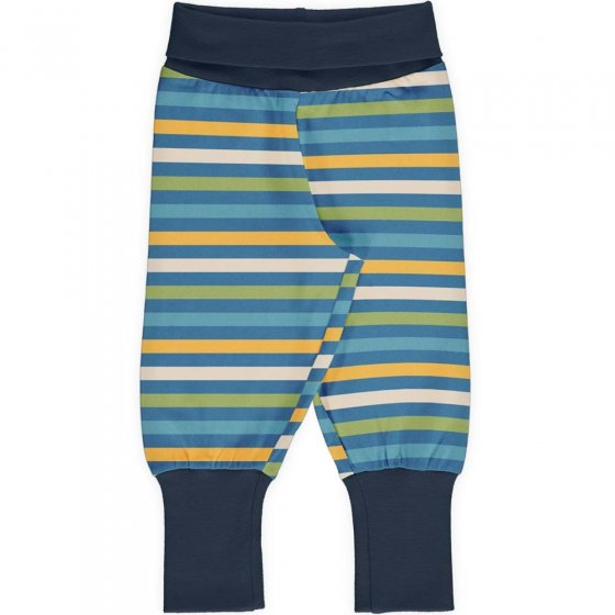 Maxomorra Ocean Stripe Rib Pants