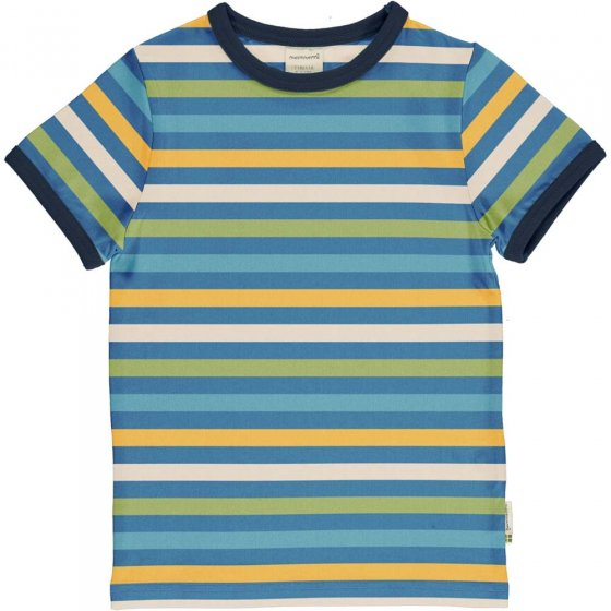 Maxomorra Ocean Stripe SS Top