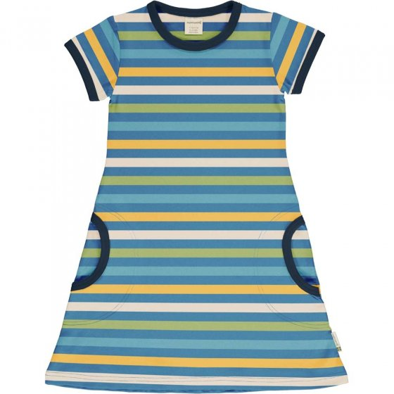 Maxomorra Ocean Stripe SS Dress