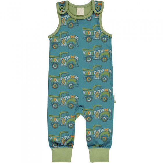 Maxomorra Painted Truck Dungarees