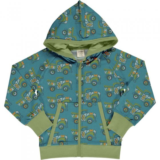 Maxomorra Painted Truck Sweat Hooded Cardigan