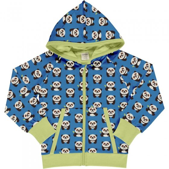 Maxomorra Playful Panda Hooded Cardigan