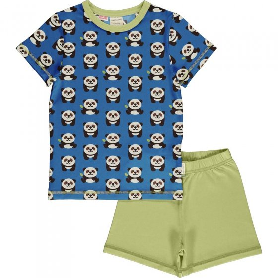 Maxomorra Playful Panda SS Pyjamas