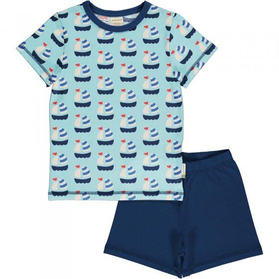 Maxomorra Sailboat SS Pyjama Set