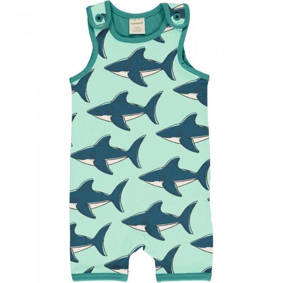 Maxomorra Shark Short Dungarees