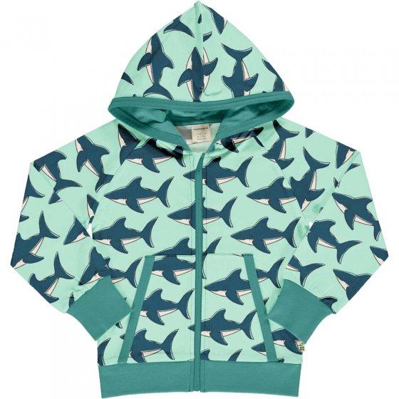 Maxomorra Shark Sweat Hooded Cardigan