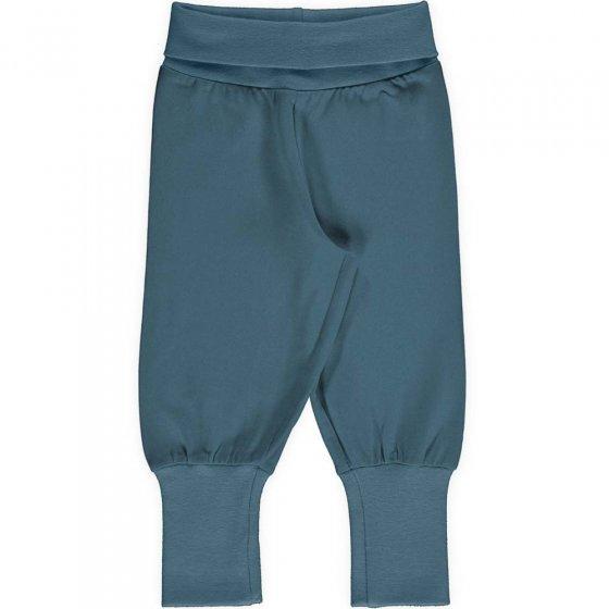 Maxomorra Solid Sky Rib Pants