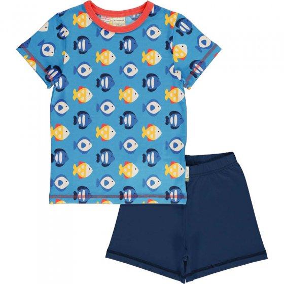 Maxomorra Tropical Aquarium SS Pyjama Set