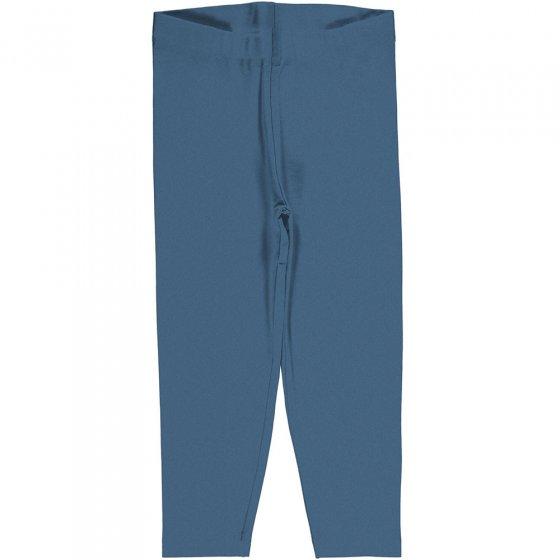 Meyadey Solid Moonlight Blue Cropped Leggings