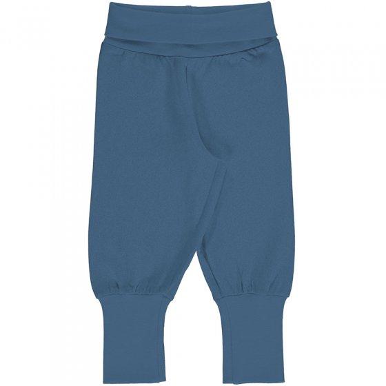 Meyadey Solid Moonlight Blue Rib Pants