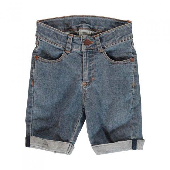 Meyadey Medium Light Wash Denim Shorts