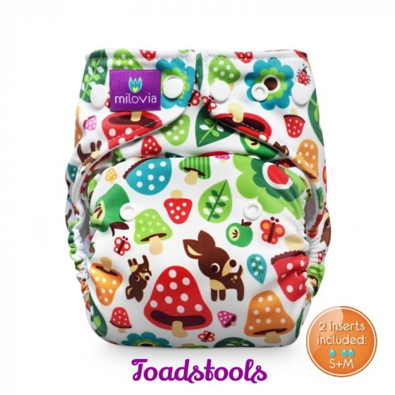 Milovia Pocket Nappies-Toadstool