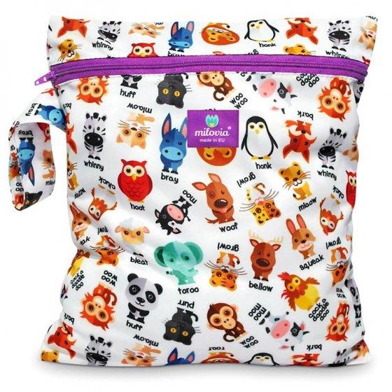 Milovia Nappy Wet Bags-Noisy animals