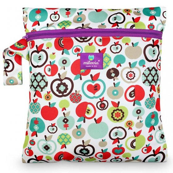 Milovia Nappy Wet Bags-Retro apples