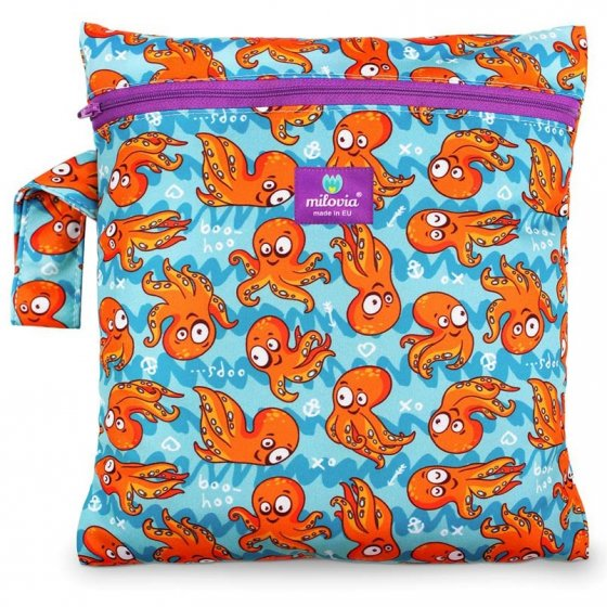 Milovia Nappy Wet Bags-Silly octopus