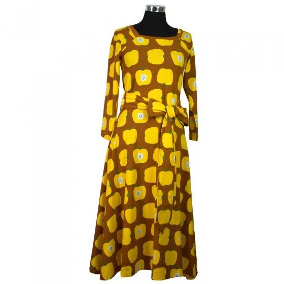 Moromini Adult Yellow Apples Square Neck Dress