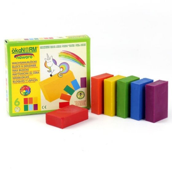 OkoNorm 6 Coloured Wax Blocks