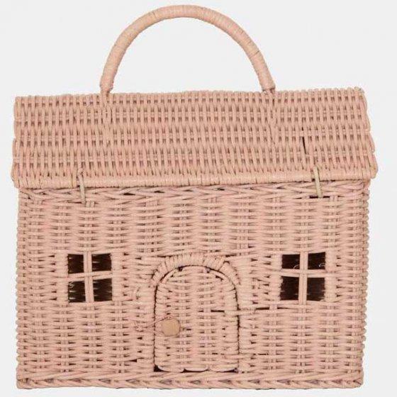Olli Ella Casa Clutch Dolls House Basket - Rose
