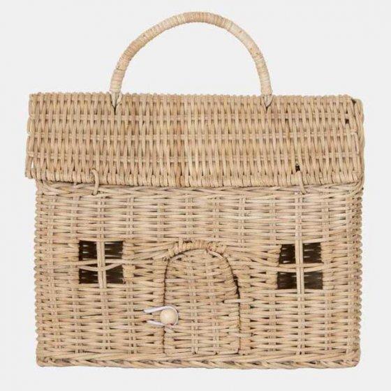 Olli Ella Casa Clutch Dolls House Basket - Straw