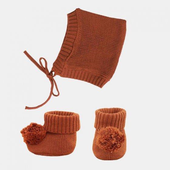 Olli Ella Dinkum Doll Umber Knit Set