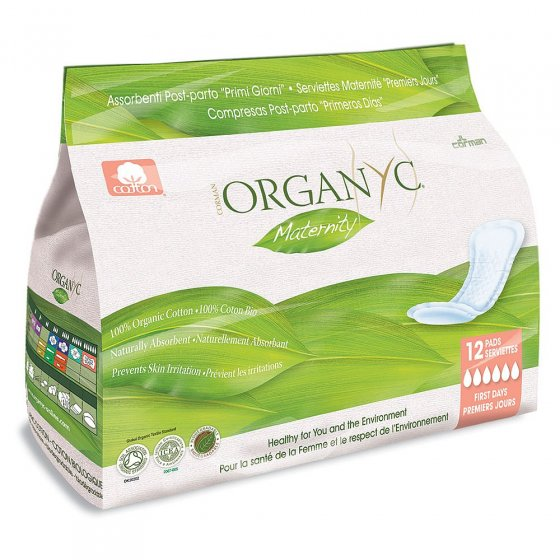 Organyc 12 Maternity Pads