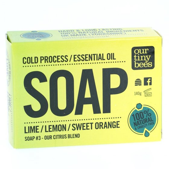Our Tiny Bees Cold Pressed Lemon Soap