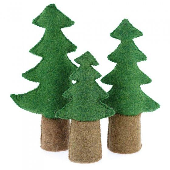 Papoose Toys Pine Trees Set