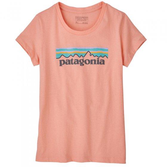 Patagonia Kids Pastel P-6 Logo Organic T-shirt - Flamingo Pink