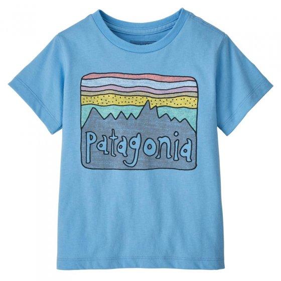 Patagonia Little Kids Fitz Roy Skies Organic T-Shirt Lago Blue