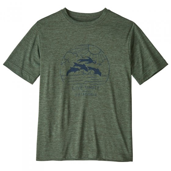 Patagonia Cap Cool Daily T-Shirt - Live Simply Porpoise Boy