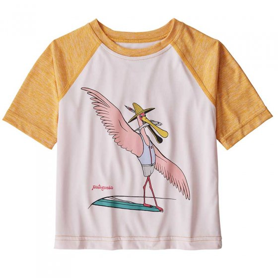 Patagonia Baby Cap Cool Daily T-Shirt Spoonbill Cheater Five: Prima Pink