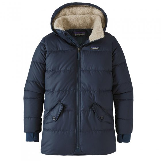 Patagonia Fitted Down Parka Jacket New Navy