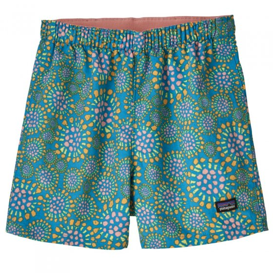 Picture of the baby baggie shorts front facing. Picture background is white.