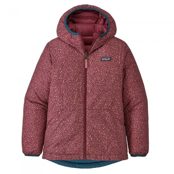 Patagonia Fitted Reversible Down Sweater Hoody Chicory Red
