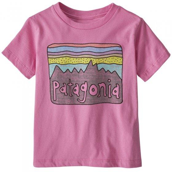 Patagonia Baby Fitz Roy Skies Marble Pink T-Shirt