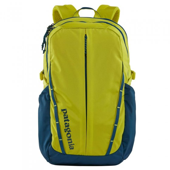 Patagonia Refugio backpack in bright teal and yellow colour