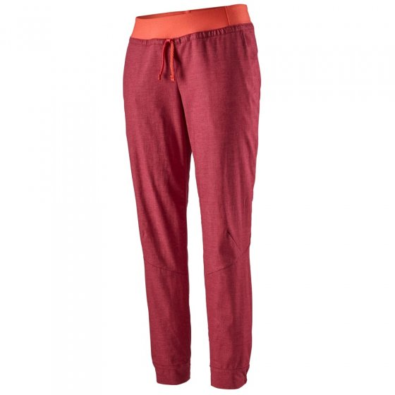 Picture of the Patagonia Hampi Rock pants in red. Picture has a white background.