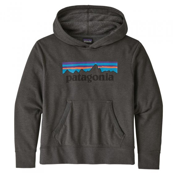Patagonia K's Graphic Hoody sweatshirt P-6 Logo: Forge Grey