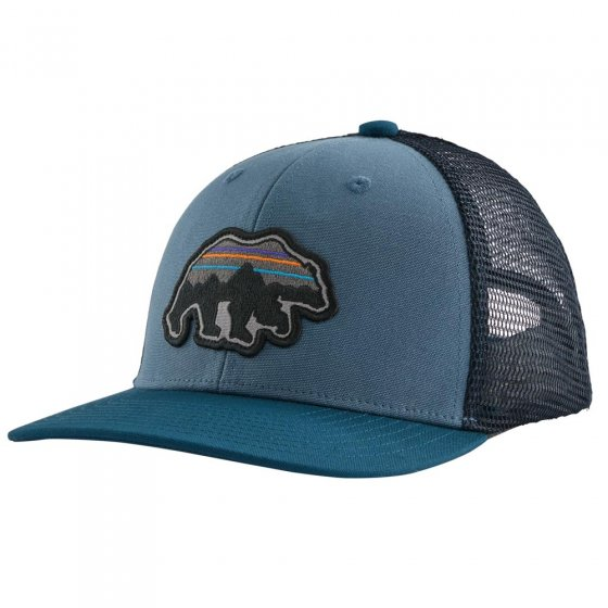 Patagonia K's Trucker Hat Back For Good Bear: Pigeon Blue