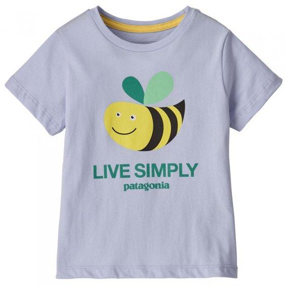 Patagonia Baby Live Simply Bee Cool Man Beluga T-Shirt