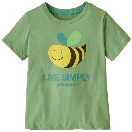 Patagonia Baby Live Simply Bee Cool Man Thistle Green  T-Shirt