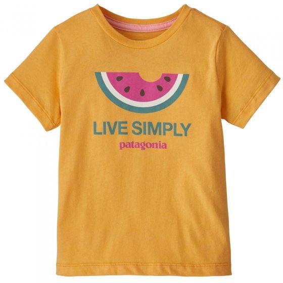 Patagonia Baby Live Simply Melon Saffron T-Shirt