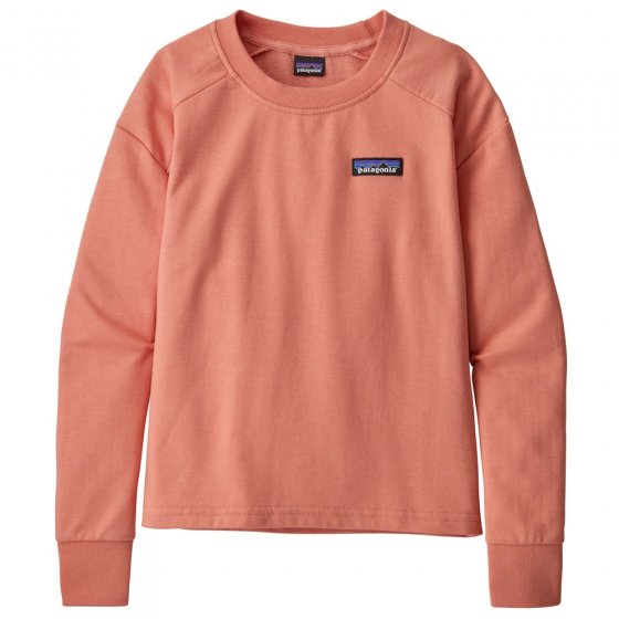 Patagonia K's P-6 Label Crew Sweatshirt - Mellow Melon