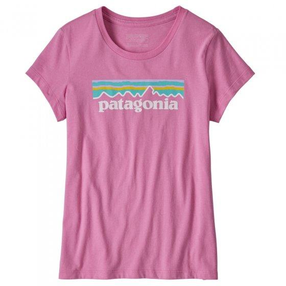 Patagonia P-6 Logo Organic T-shirt - Marble Pink