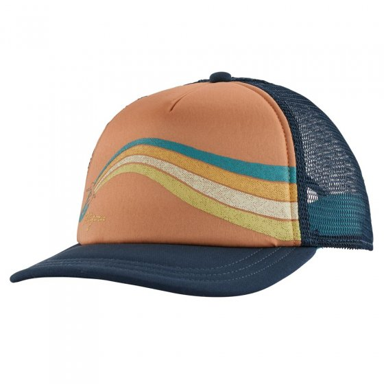 Picture of the psychedelic interstate hat (front view). Picture background is white.