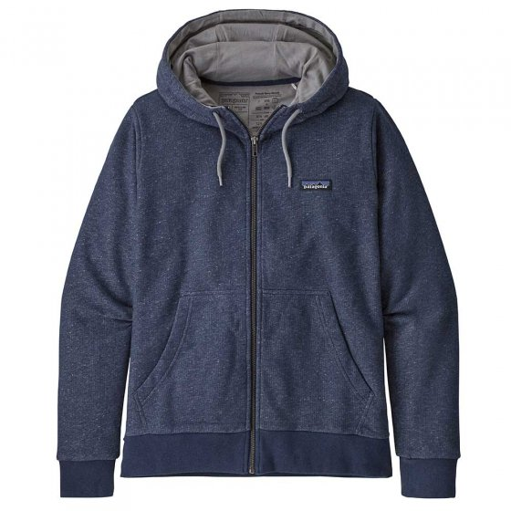 Patagonia W's P-6 Label French Terry Full-Zip - Navy Blue